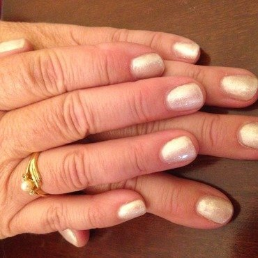 Cham-pag-ne shellac by Kayleigh-Laura Townend