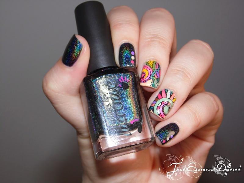 Reverse stamping - Trip to Rio nail art by HUCK Caroline - Nailpolis ...