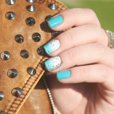 Moderna jade esmaltes nails unhas esmalte e cor blog dourado glitter o boticario degrade azul turquesa thumb370f