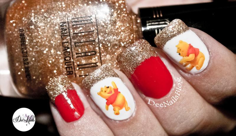 Disney Winnie the pooh nails nail art by Diana Livesay