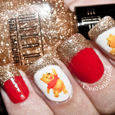 Disney Winnie the pooh nails nail art by Diana Livesay