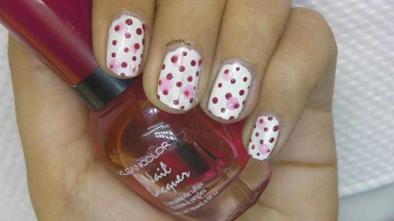 3D Polka Dots! nail art by Nailz4fun