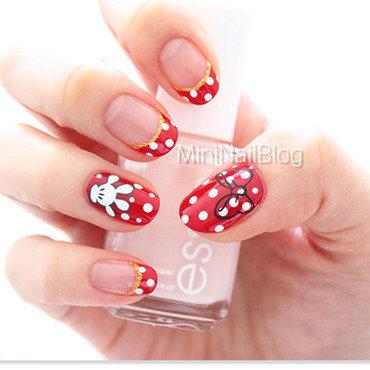 Minnie Mouse Nails nail art by Minnie (MiniNailBlog)
