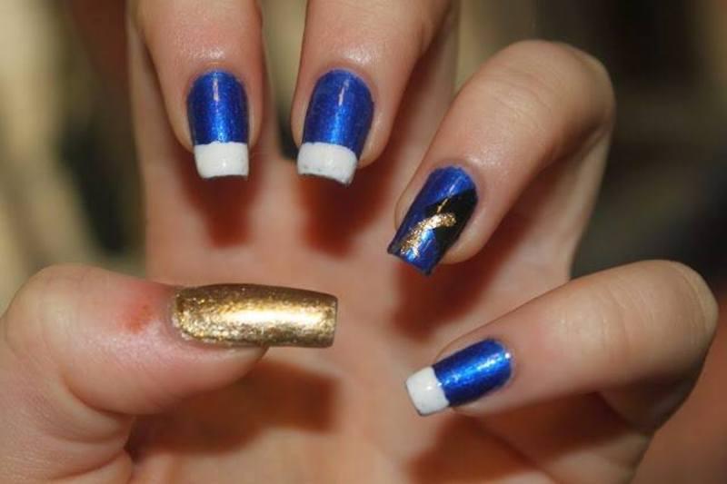 Graduation Nail Art nail art by Elizabeth Hemingway