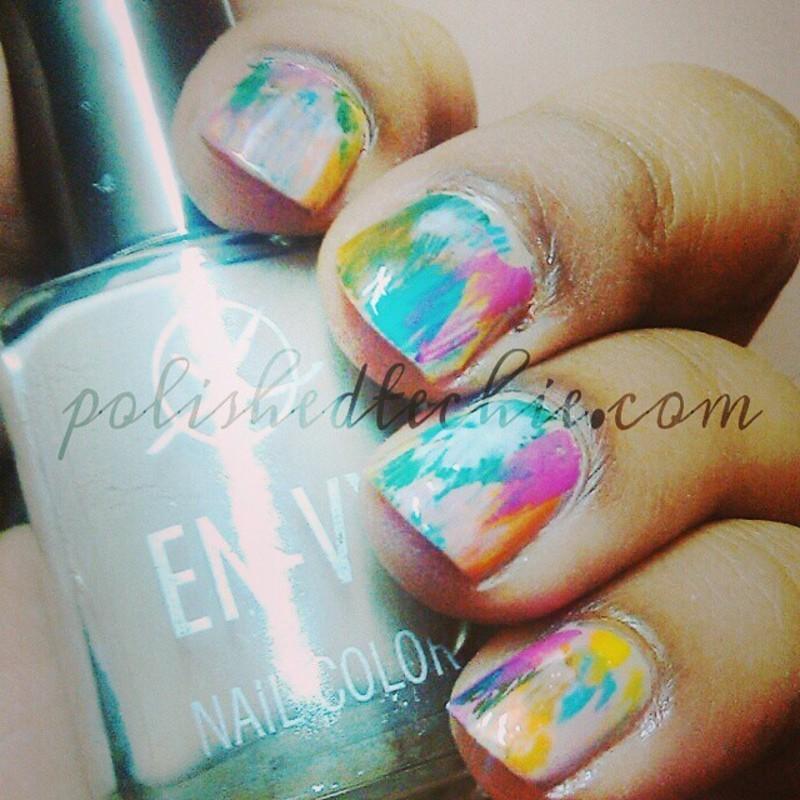 Dry Brush Nailart nail art by Rajani Polished Techie