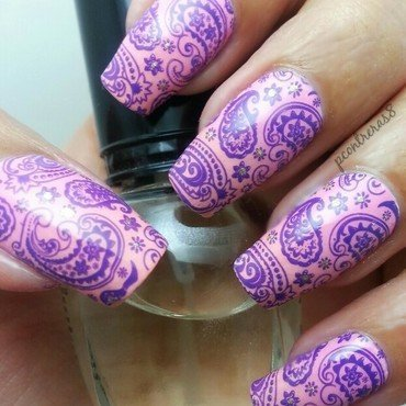 Pretty in Paisley nail art by pcontreras8nails