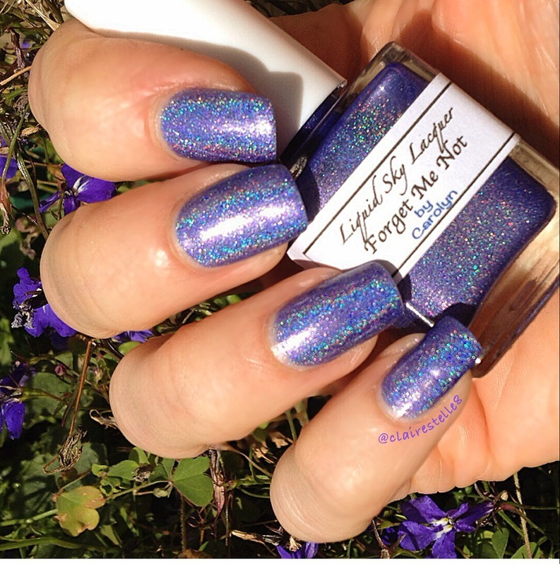 Liquid Sky Lacquer Forget Me Not Swatch by Claire O'Sullivan