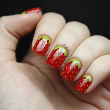 Strawberry Nails for the #31DC2 nail art by Mare