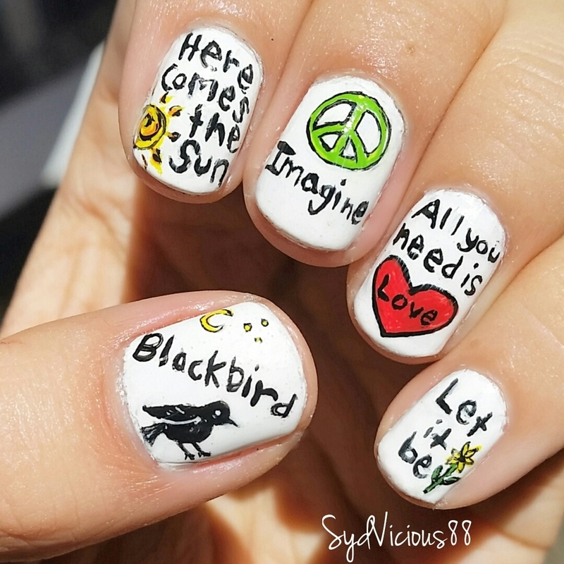 Songs of The Beatles nail art by SydVicious