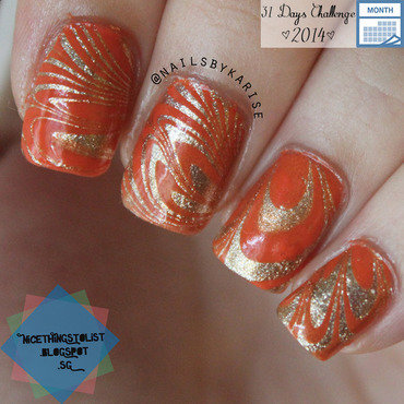 31dc2014 orange gold watermarble thumb370f