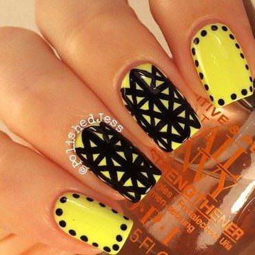 #31dc2014 Day Three - Yellow  nail art by PolishedJess