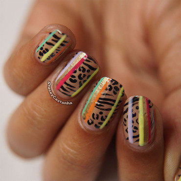 Mixed Prints nail art by Stacey  Castanha