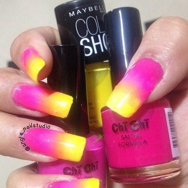 Gradient nails  nail art by Angelnailstudio