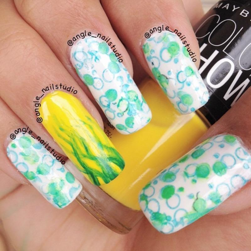 Aqua Nail Art: Aqua Nails Nail Art By Angelnailstudio