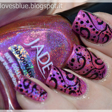 Henna Over The Rainbow nail art by MiseryLovesBlue