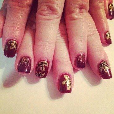 Fall leaves  nail art by Kristen93