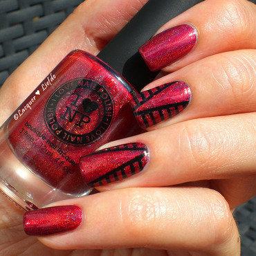 Striping Mani nail art by Anna