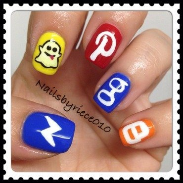 Social Media part 2 nail art by Riece