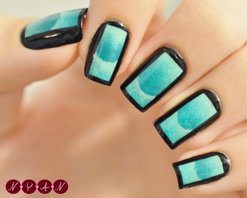 Boxed In nail art by Becca (nyanails)