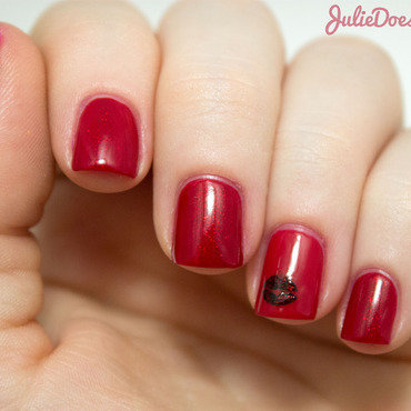 #31DC2014 Day One Red nail art by Julie