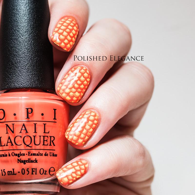 31DC2014 - Day 2: Orange nail art by Lisa
