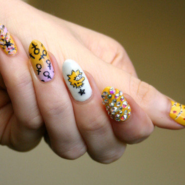 Lisa Simpson Forever nail art by ladycrappo