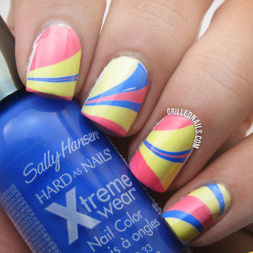 Sally Hansen discontinued colors nail art by Hector Alfaro