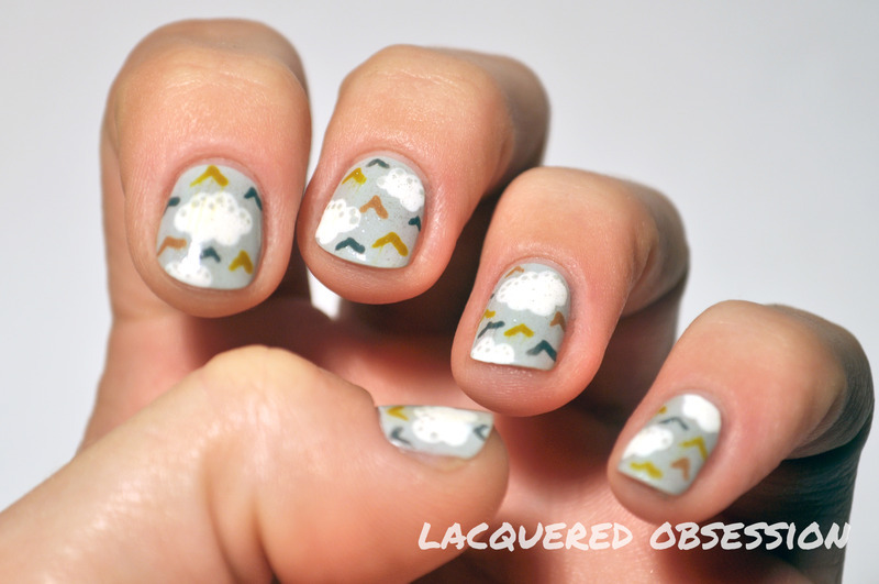 Inspiration from bed nail art by Lacquered Obsession