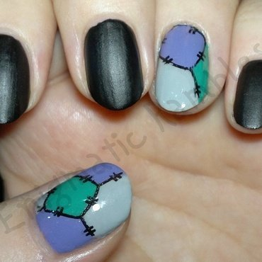 Patchwork Nails nail art by Enigmatic Rambles