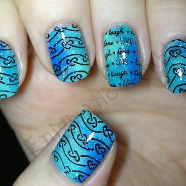 Stamped Live, Laugh, Love Celtic Knot Nails nail art by Enigmatic Rambles