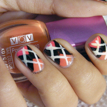 Argyle Print! nail art by Nailz4fun