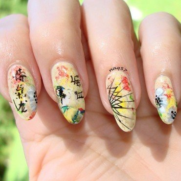Abstract Geisha nail art by Nora (naq57)