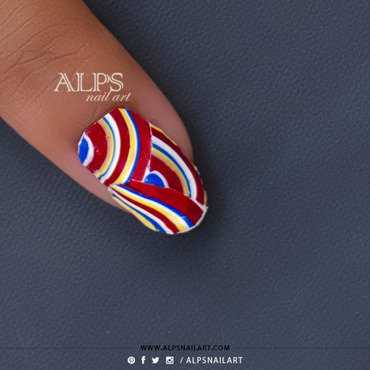 Creative Water marble nail art tutorial by @alpsnailart nail art by Alpsnailart