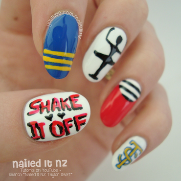 "Taylor Swift ""Shake It Off"" Nail Art Tutorial nail art by Jessie Mills"