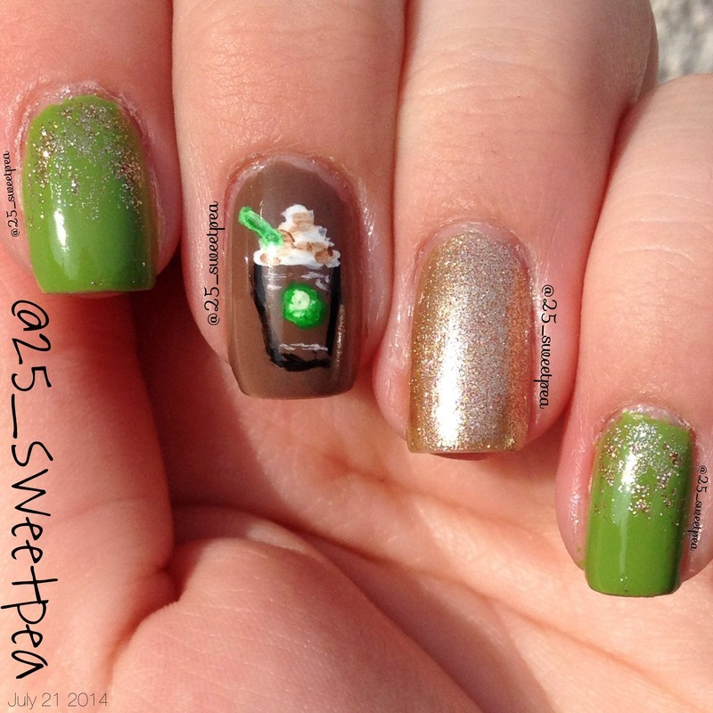 Starbucks! nail art by 25_sweetpea