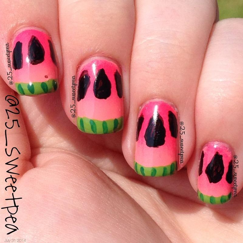 Watermelon ! nail art by 25_sweetpea