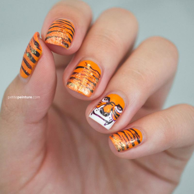 Shere Khan nail art by Petite Peinture