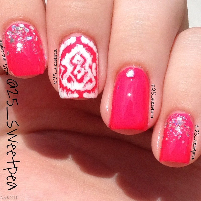 Ikat nails! nail art by 25_sweetpea
