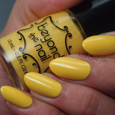 Beyond The Nail Spring Yellow Creme Swatch by Kelsie