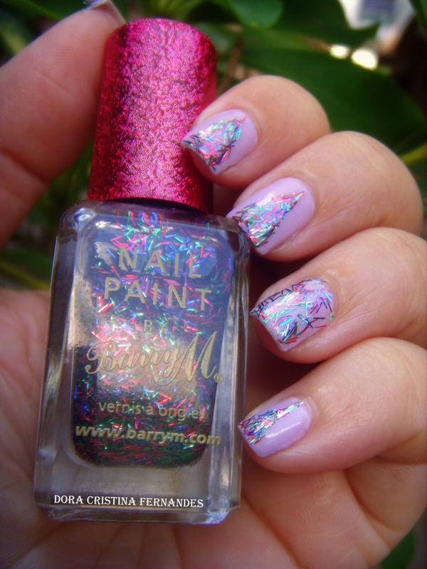Tinsel Town nail art by Dora Cristina Fernandes
