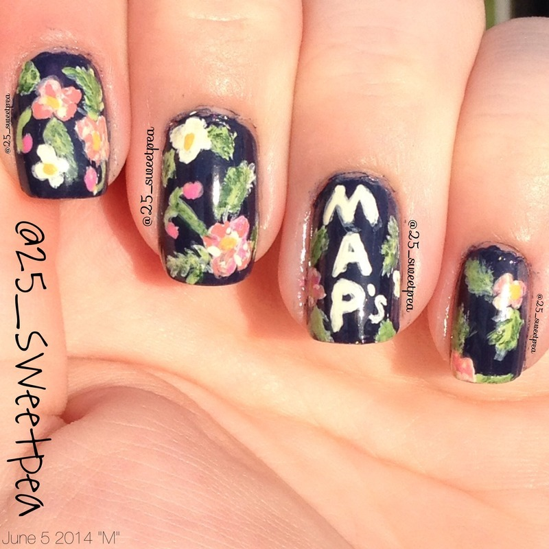 Maps nail art by 25_sweetpea