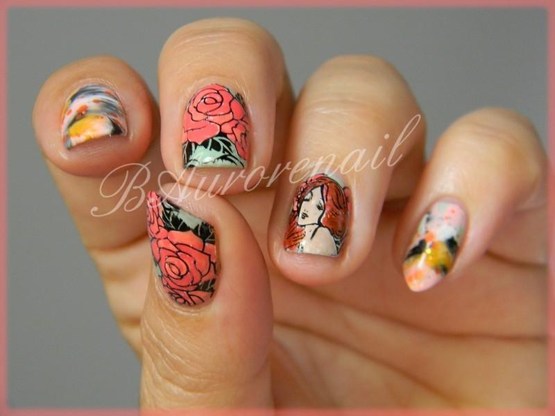 Art deco nail art by BAurorenail