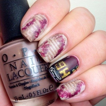 The Bible  nail art by Nicole