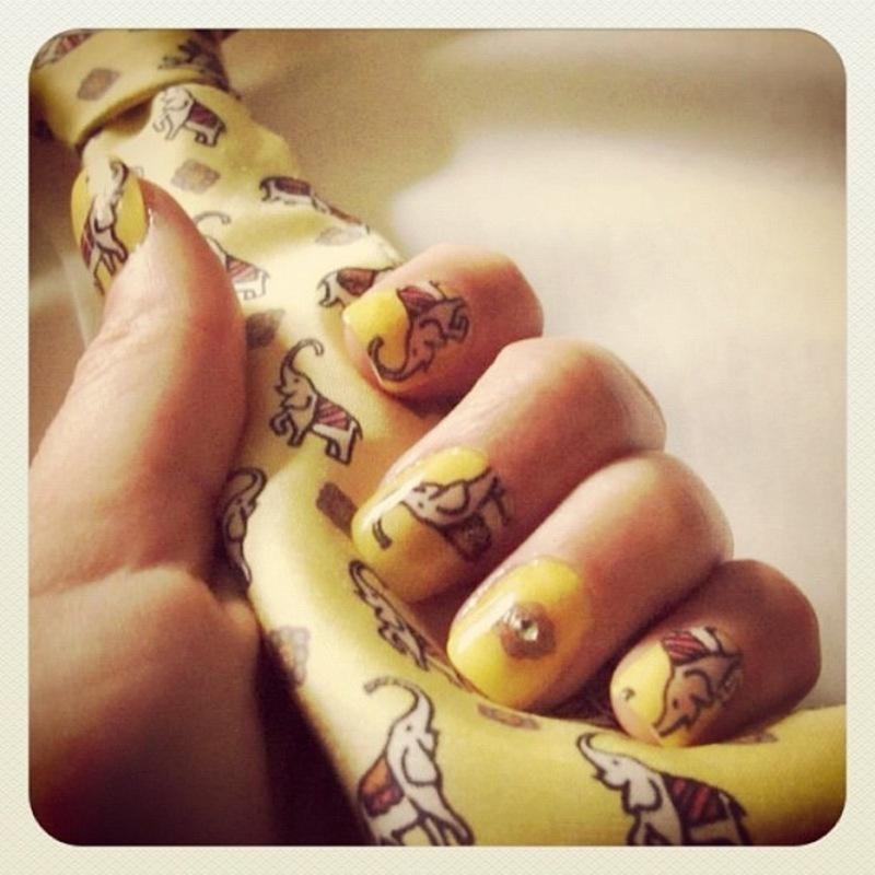 "these little guys got un""tie""ed. nail art by NAMInails"
