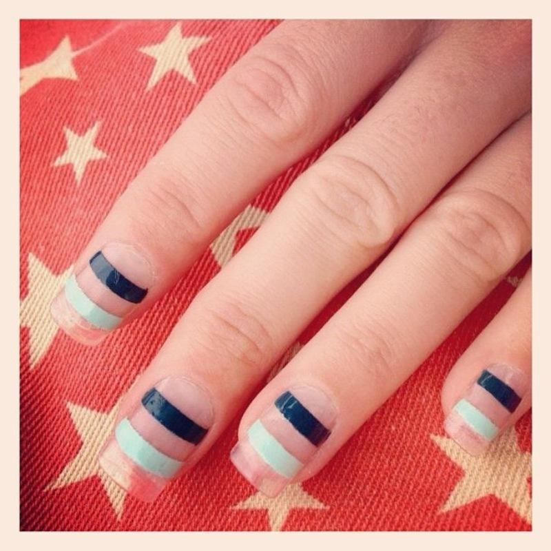 sea thru sailor. nail art by NAMInails