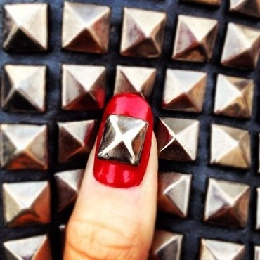 queen of studs. nail art by NAMInails