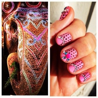 eat.pray.love. nail art by NAMInails