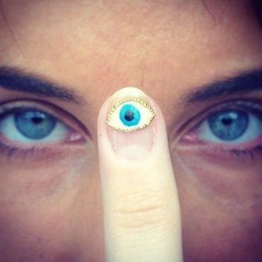third eye blind. nail art by NAMInails