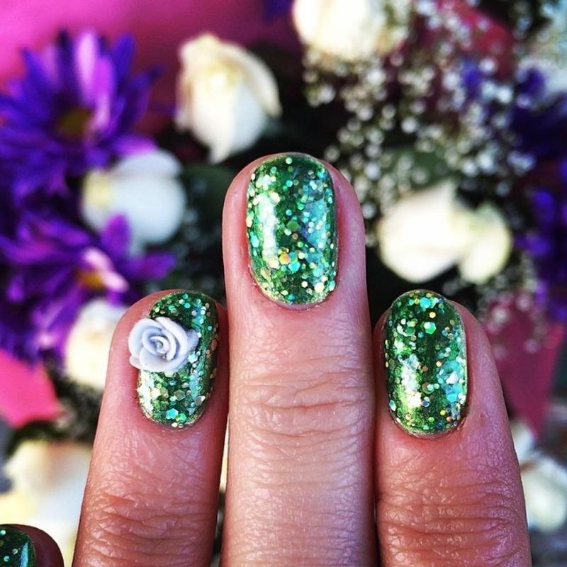 bloomin. nail art by NAMInails