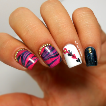 Skittlette manicure nail art by melyne nailart